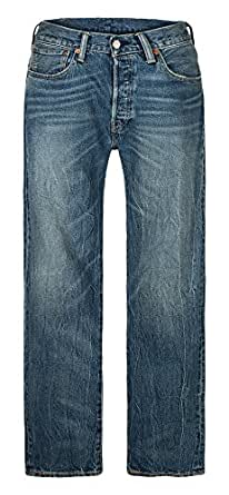 Levi's 李维斯 男式 501牛仔裤 钮扣门襟设计 00501-2287 浅蓝色 28W 32L