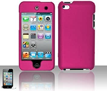 Hestech(TM) 硅胶 + 硬质手机壳,适用于 4/4G/4th 桃红色