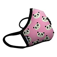 Vogmask N99CV时尚儿童防雾霾 pm2.5 防尘 防过敏源 户外运动旅行口罩 Pink Panda(熊猫小桃)1只 S号(参考体重:25-50磅/11-22公斤)(进口)