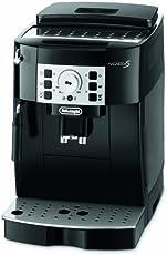 De'Longhi 德龙咖啡机Magnifica S ECAM 22.110.B全自动咖啡机(按键与旋钮设计,制作奶泡,13种程度研磨技术,可拆卸式萃取机芯,一次萃取两杯)黑色