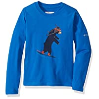 Columbia 男童 Big Animal Antics 长袖衬衫 Super Blue Bear Graphic Large