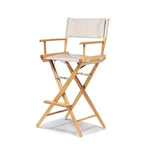 伸缩式休闲世界著名杆高导向椅,清漆,自然套面