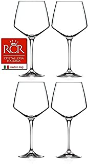 RCR Cristalleria Italiana Aria 系列 4 件水晶玻璃套装 Burgundy Wine (25.25 oz)