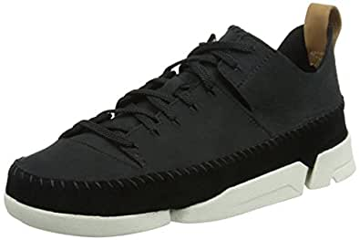 Clarks Originals Trigenic Flex 女士低帮运动鞋, Black (Black Nubuck), 3 UK (35.5 EU)