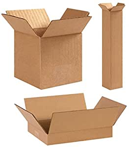 "Bauxko 11 1/4"" x 8 3/4"" x 5"" Corrugated Boxes, 6-Pack"