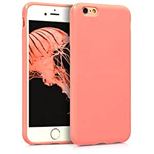 kwmobile Chic TPU 硅胶保护套,适用于 Apple iPhone 6 / 6S 黑色 高光泽 .light pink matte