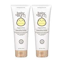 Baby Bum 日用乳液 - 不含香料 - 保湿婴儿乳液,含乳木果和可可油 - 不含麸质 - 8 盎司(2 瓶装)