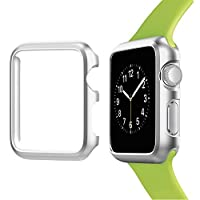 Josi Minea iWatch 5 & 4 铝制保护壳防撞保护套 - 防震防刮保护膜 适用于 Apple Watch 系列 5 和 4 40mm 银色