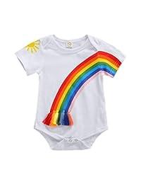 中性婴儿太阳和彩虹运动衫秋季棉长袖衬衫上衣