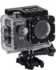 Coleman CX14WP Conquest3 4K 超高清運動相機,帶有防水外殼和底座,黑色