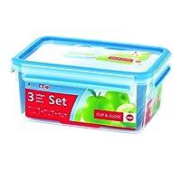EMSA爱慕莎乐鲜系列塑料保鲜盒 508566 长方形0.55L/1.0L/2.3L组合 德国原装进口