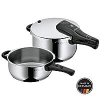 WMF 福騰寶 Perfect壓力鍋,2件套,3升/4.5升,不含配件,德國制造,Cromargan不銹鋼