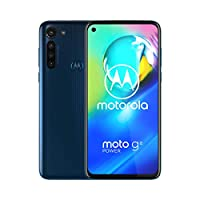 Motorola Moto G8 Power(64GB,4GB RAM)6.4 英寸雙卡 GSM 工廠解鎖,美國和全球 4G LTE 國際版 - XT2041-1PAHE0017SV  Moto G8 power - Blue - International - 2020