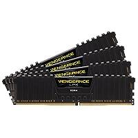 Corsair Vengeance LPX DDR 4 高性能 臺式電腦 內存條 套件 帶通風冷卻 黑色 64GB (4x16GB)