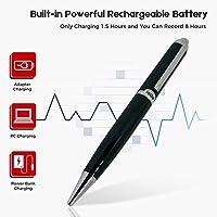 數字語音激活錄音機 16GB - 擴展充電電池極限存儲 - 便攜式音頻/聲音錄音設備