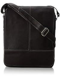 Piel Leather Urban Vertical Messenger Bag