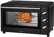 Clatronic 多功能烤箱MBG 3728,30升烘焙空间,循环 + 上热和下热,90分钟定时器,带结束信号,黑色