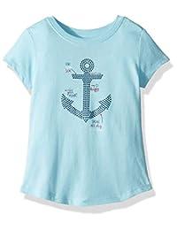 Nautica 女童短袖图案 t 恤