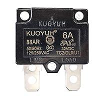 KUOYUH 断路器 88AR 系列 125/250VAC 50/60Hz (3A-16A) (1 件) 6A