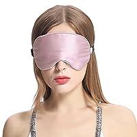 Lilysilk遮光护眼真丝眼罩睡眠 舒适透气桑蚕丝睡觉眼罩男女用 缓解眼疲劳助睡眠/梅李