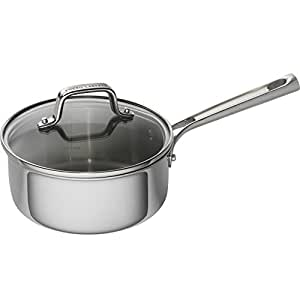 Emeril Lagasse 62855 Tri-Ply Stainless Steel Saucepan, 2 quart, Silver