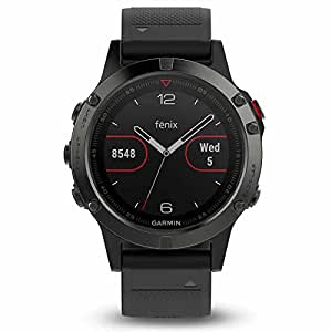 GARMIN 佳明 fenix5 蓝宝石镜面国行英文版 多功能光电心率GPS手表 运动户外登山骑行游泳跑步智能腕表