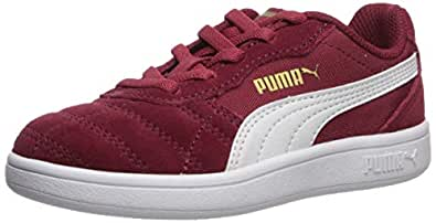 PUMA 儿童 Astro Kick 一脚蹬运动鞋 Rhubarb-puma White-puma Team Gold 3 Little Kid