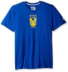 MLS Club Tijuana 男士团队徽章短裤 T 恤,XL 码,蓝色