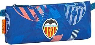Valencia CF 学校收纳盒   大号金属拉链盒 长方形大容量 单隔层口袋 - 尺寸 21 x 9 x 5 厘米 - 蓝色