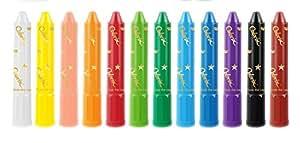 AMOS 阿摩司 韩国原装进口蜡笔 旋转可水洗12色蜡笔/粉彩/水彩三合一儿童绘画工具