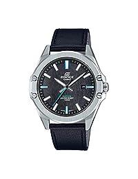 Casio 卡西歐 男士指針式石英手表 皮革表帶 EFR-S107L-1AVUEF