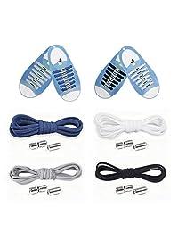 无系带鞋带,4 双弹性鞋带,带金属锁扣,均码