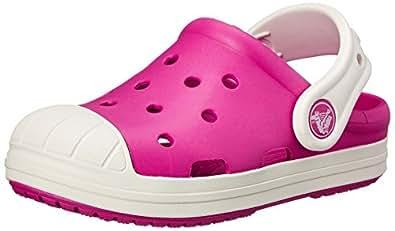crocs Bump It Clog (Toddler/Little Kid/Big Kid), Candy Pink/Oyster, 1 M US Little Kid