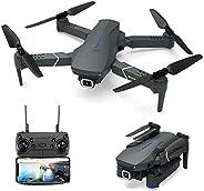 EACHINE E520 无人机带 4K 摄像头实时视频,WiFi FPV 无人机适用于成人 4K HD 120° 广角摄像头 1200Mah 长飞行时间自动悬停可折叠遥控无人机四轴飞行器
