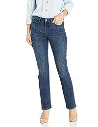 LEE 女式标志性常规直筒牛仔裤