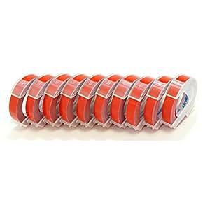 Daimo 压纹胶带 宽9mmx3M 10卷组合 DM0903 红色