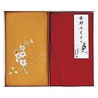 增井 红白事用方绸巾 红金封包 38×37cm 镀金 20 ×12cm 洛北 刺绣 金封包