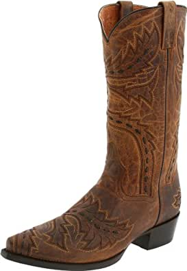 Dan Post 男士 Sidewinder Western 靴子 棕褐色 11.5 XW US