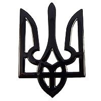 乌克兰三位风格黑色饰面贴花徽章乌克兰 Tryzub 3D 贴纸汽车 5.08 厘米 x 7.62 厘米