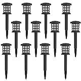 MAGGIFT 12 件装太阳能通路灯户外 LED 太阳能花园灯,适用于草坪、庭院、庭院、散步道、车道