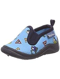 Playshoes 中性儿童全身建筑工地低帮拖鞋