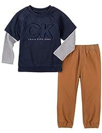 Calvin Klein 男孩 2 件套裤子套装