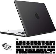 IBENZER 柔软触感硬壳保护套带键盘盖和 C 型适配器,适用于 2020 Apple MacBook Pro 13 英寸带触控栏和触控ID的保护套New Macbook Pro 13'' A2251/