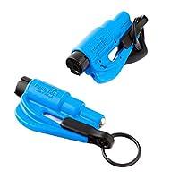 resqme 锐救 原装汽车紧急逃生钥匙扣破窗器 美国制造 蓝色 2只装(亚马逊进口直采,美国品牌)