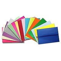 多种颜色(50 盒装)A2 信封 4-3/8 x 5-3/4 适用 4-1/8 x 5-1/2 响应卡,邀请函说明 - Astrobrights & More 来自信封画廊
