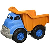 Green Toys 自卸卡车玩具,橙色/蓝色,10 x 7.5 x 6.75英寸(25.4 x 19.05 x 17.15厘米)