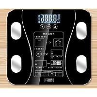 家用脂肪秤电子称超精准智能体脂秤多功能体重秤成人减肥测体脂称 (黑色)