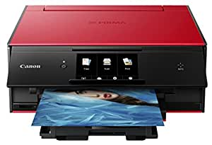 Canon 佳能TS9020无线一体式打印机 带扫描仪和复印机 支持移动和平板电脑打印 AirPrint和Google云打印兼容 红色