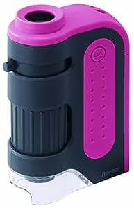 レイメイ藤井 顕微鏡 ハンディ ZOOM W60 × H92 × D30mm 粉色