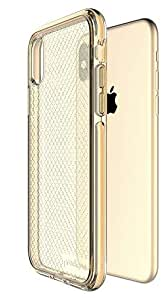 Prodigee [*] iPhone Xs Max 6.5 英寸保护壳 - 柔软硅胶缓冲透明*级认证跌落冲击测试 金色
